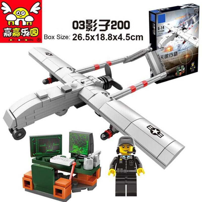 4pcs/set Military Building Blocks Compatible Legoed Sky Fighter Model toys for Children DIY Educational Aircraft Kit Bricks G enlighten building blocks military submarine model building blocks 382 pcs diy bricks educational playmobil toys for children