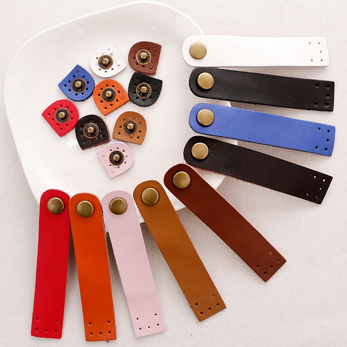 Patchwork Accessories diy handmade genuine leather buckle on buttons semicircular leather hasp handmade bag hasp