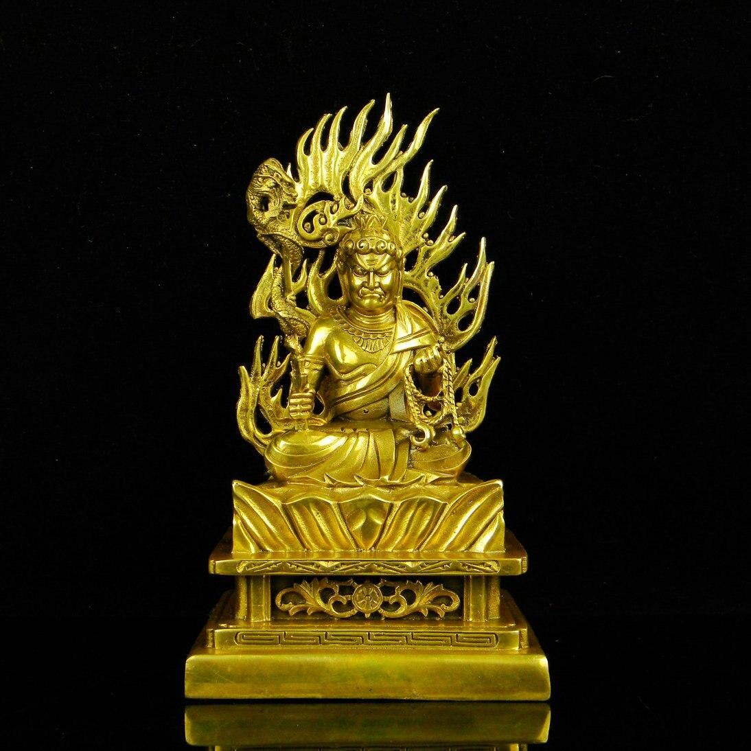 Laiton, Acala, Acalanatha, bouddha Bodhisattva, statue de bouddha, figure bouddhiste, figurine bouddhiste, saint Patron environ 21 cmLaiton, Acala, Acalanatha, bouddha Bodhisattva, statue de bouddha, figure bouddhiste, figurine bouddhiste, saint Patron environ 21 cm