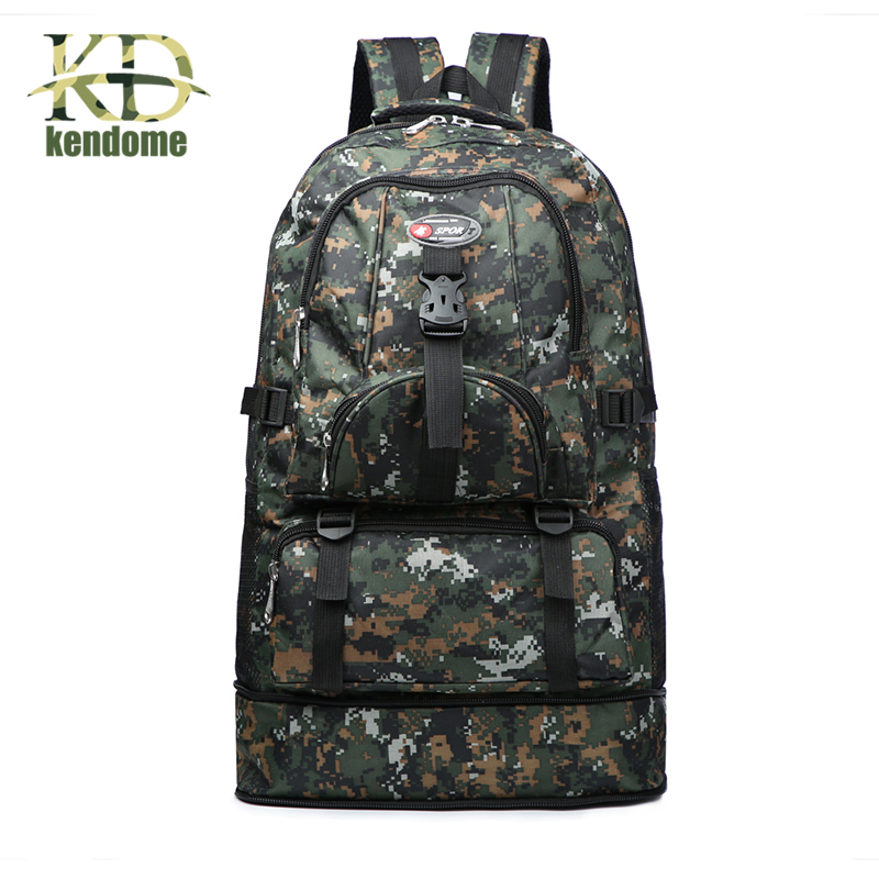 40L Nylon Military Tactical Backpack Outdoor Trekking Sport Travel Camping Hiking Camouflage Sports Bag Large Capacity Rucksacks woodland camo sports outdoor military tactical backpack travel bags high quality camping bag hiking trekking bagpack