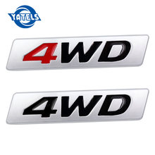 3D Chrome métal autocollant 4WD emblème 4X4 Badge décalcomanie voiture style pour Honda CRV Accord Civic Suzuki Grand Vitara Swift SX4(China)