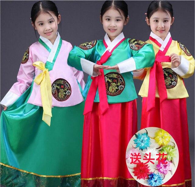 Корейский детский Корейский платье принцессы Корейский национальный детской одежды костюмы для выступлений детских девушки этап
