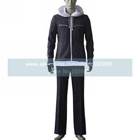 Air Gear Kazuma Mikura Black Cosplay Costume font b Men b font Outfit font b Hoodie