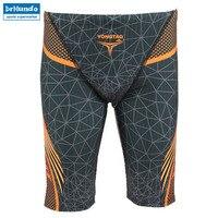 Men S Professional Athletes Compression Rapid Swim Trunks Splice Quick Dry Jammer Swimsuit