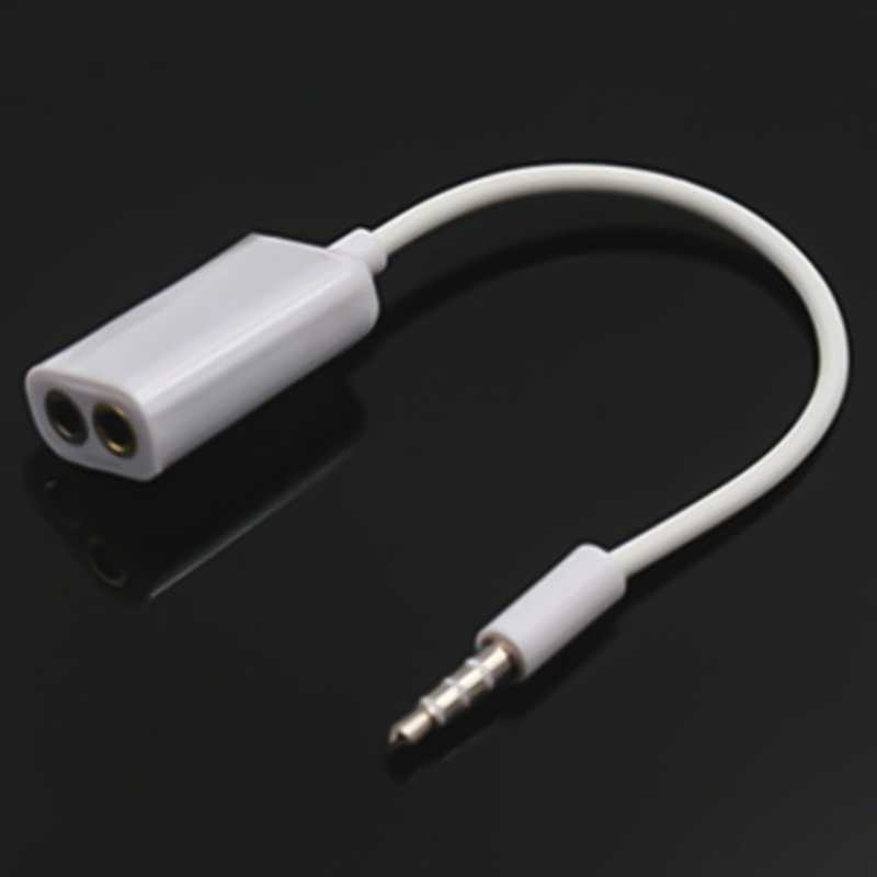 3.5mm Male AUX Headphone Splitters Dual 3.5mm Female Headphone Audio Adapter Car Cable
