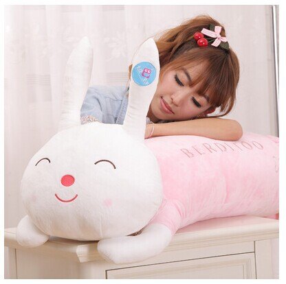 120 cm lying pudding rabbit plush toy rabbit doll sleep pillow gift w3877 lovely panda in pink dress big 90cm plush toy panda doll soft throw pillow proposal birthday gift x030
