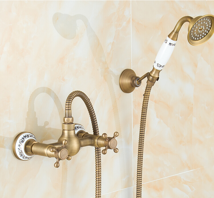 new high quality total brass Europe style bronze finished bathroom shower faucet set,bathtub faucet set with ceramic base fashion europe style high quality total