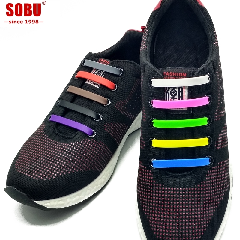 SOBU New Elastic Silicone Shoelaces Creative Lazy Silicone Laces No Tie Rubber Lace Easy Shoes Accessories For Man Women Unisex