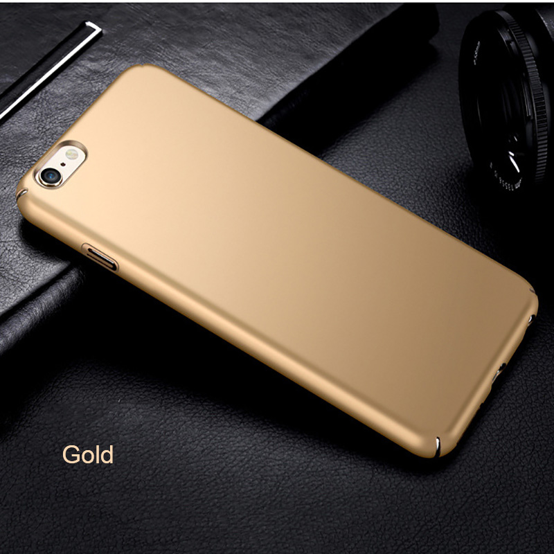 Ultra thin Hard PC Phone Case For Apple iPhone X 10 Ten 5 5S SE 6 6S 7 8 Plus Anti-knock Protection Cover Back Case