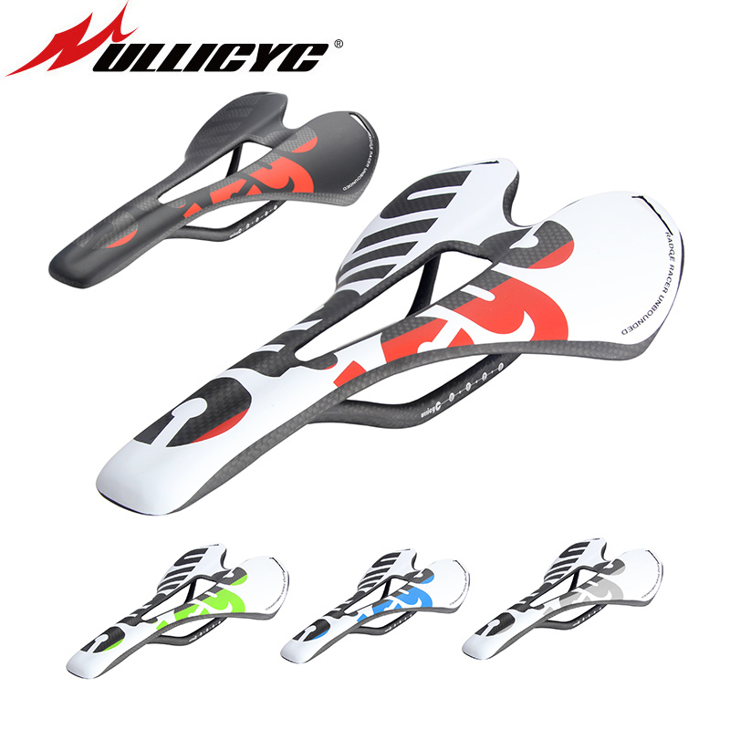 New Ullicyc 3K Full Carbon Fiber Bicycle Saddle Road/MTB Bike Carbon Saddle Seat Matte/Glossy colorful ZD143 newest mountain bike 3k carbon fiber full carbon saddle bicycle saddle road front seat cushion matte mtb