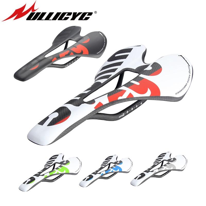 Nuevo Ullicyc 3 K fibra de carbono de bicicleta de carretera/bicicleta MTB carbono sillín asiento mate/brillante colorido ZD143