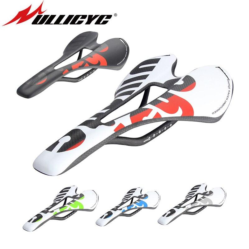 Nuevo Ullicyc 3 K fibra del carbón de la bicicleta carretera/MTB bicicleta asiento de silla de carbono mate/brillante colorido ZD143
