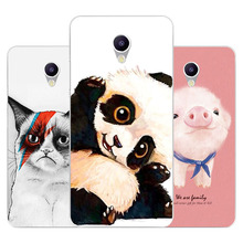 Meizu m5 note Case,Silicon panda cartoon Painting Soft TPU B