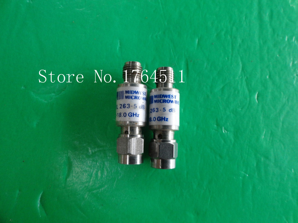 [BELLA] MIDWEST 263-5dB DC-18GHz 3dB 2W SMA Coaxial Fixed Attenuator  --2PCS/LOT