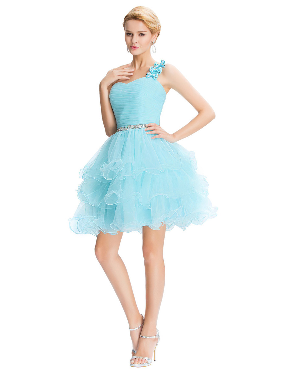 A line white dress turquoise