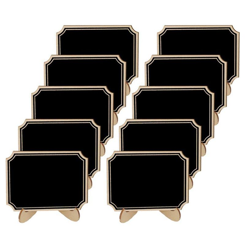 20 Pack Mini Chalkboards With Support Easels Stand,Place Cards Small Rectangle Little Wood Blackboard For Weddings Birthday Pa