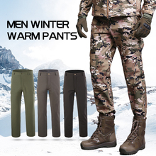 Men Outdoor Sports Windproof Pants Fleece Lined Winter Hiking Pants Thermal Skiing Pants Quick Drying Camping Climbing Trousers facecozy men winter thicken skiing hiking pants windproof with warm fleece male trousers outdoor sports climbing softshell pants
