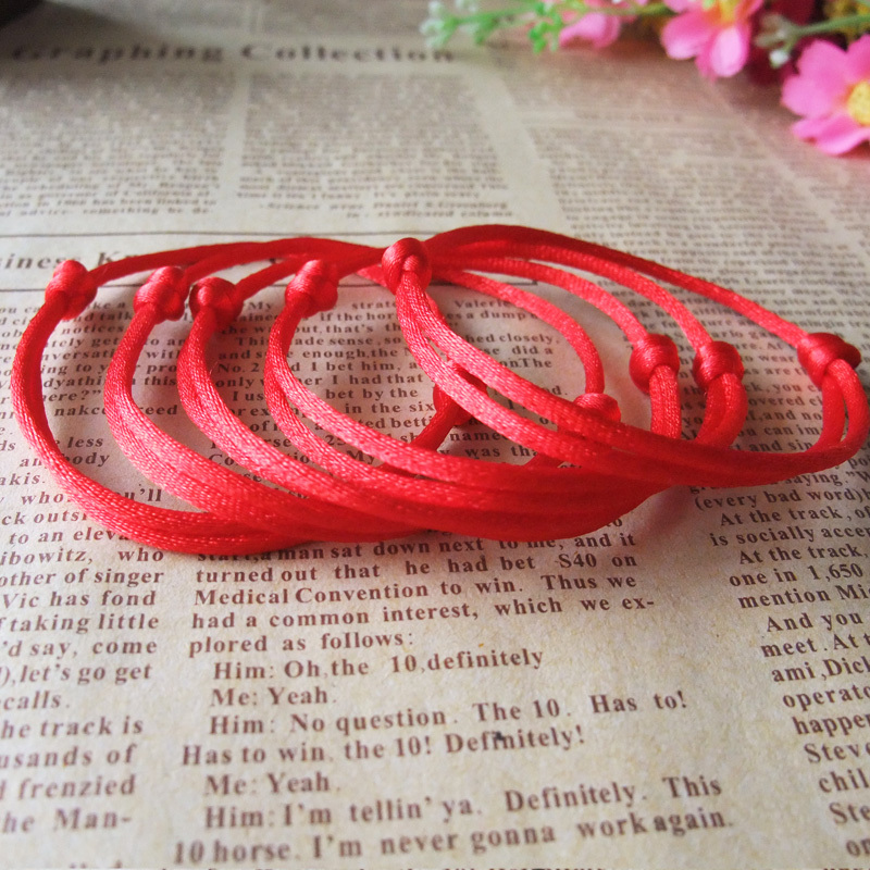 Pcs Kabbalah Lucky Red Rope Bracelet Bangle Wax Cord