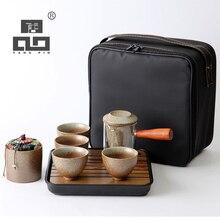 TANGPIN ceramic teapot teacup tea sets chinese kung fu set with bag