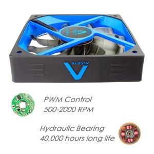Image 4 - Alseye pc冷却ファン120ミリメートルファン12v pwm 4pinクーラー (3ピース/ロット) シリコーンサイレントファンpcケース/cpuクーラー