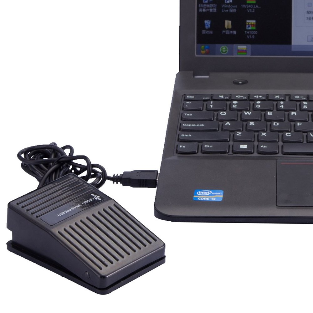 Black Plastic USB Single Foot Switch Pedal Control Keyboard Mouse PC Game