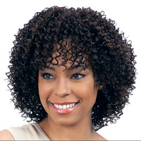 New arrival black curly hair jewelry 140g 27cm synthetic hair accessories extension for black women wigs