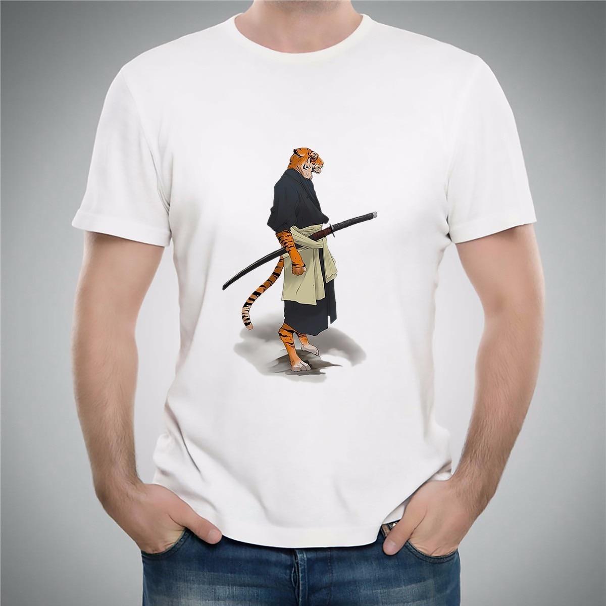 JAPAN կենդանիների Ninja վարպետ Ronin Warrior t shirt - Տղամարդկանց հագուստ