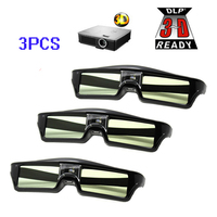 Free Shipping 3pcs Lots ATCO Professional Universal DLP LINK Shutter Active 3D Glasses For 3D Ready