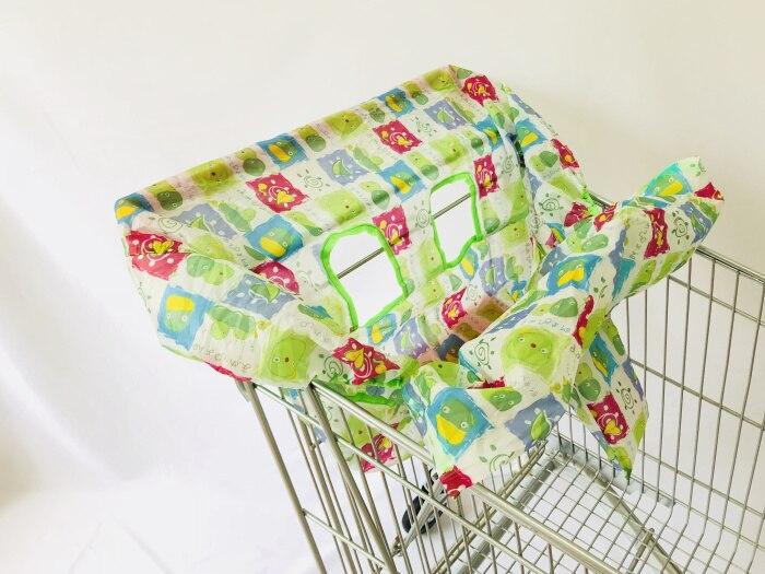 Младенческий супермаркет корзина для покупок, чехол для детского сиденья, анти-грязный чехол, детское сиденье для путешествий, подушка, не грязный, портативный - Цвет: Cute Chicken