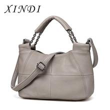 Soft Cowhide Bucket Genuine Leather Women Handbags 2018 Bran