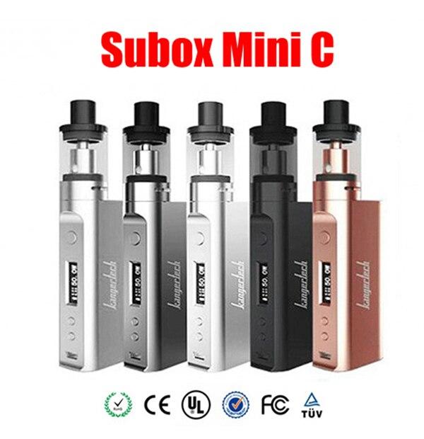 100% Original Kang Subox Mini-c Starter Kit 50 w Kbox mini-c Superior llenado Tanque Subtank Mini C 0.3ohm Gran Capacidad 3 ML libre de Fugas