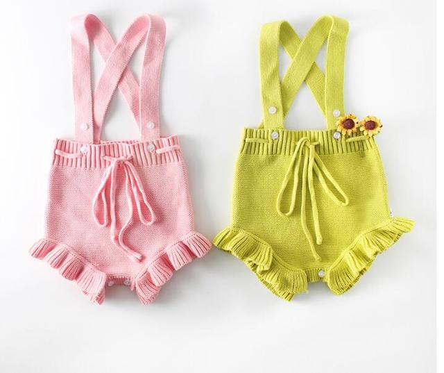 58e68ff0e3bf 2018 Spring Newborn Baby Girl clothing Candy color fungus baby knit jumpsuit  baby clothes sweater Lucky costume for kids