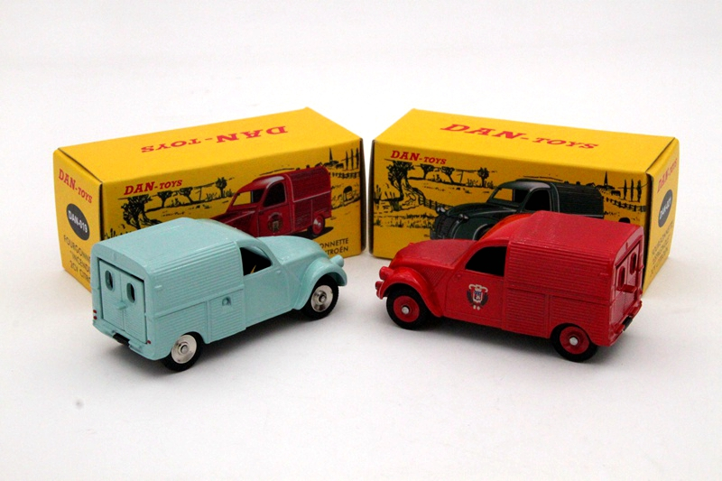 Atlas Lot Of 2 Citroen 2CV 1:43 DAN 021 And DAN 019 Contemporary Diecast Toy Models Cars Collection Gift