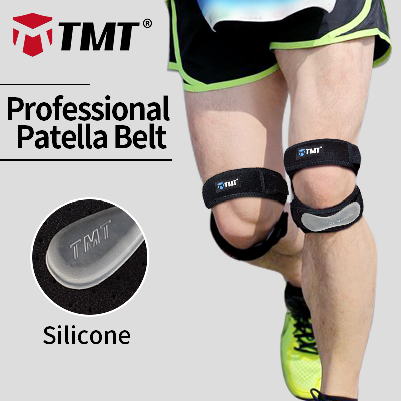 TMT Honeycomb Meshed Pustende Justerbar Sports Klatring Basketball Knestøtte Brystmuffe Patella Guard Protector Support