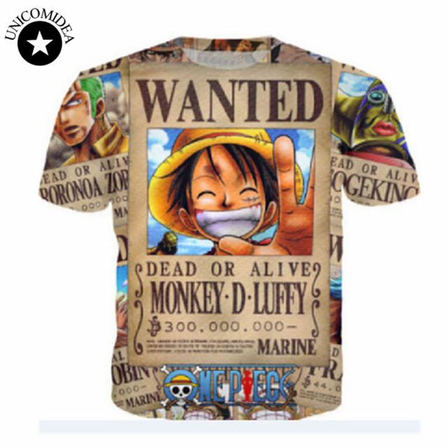 One Piece Naruto Pikachu Cartoon T Shirts