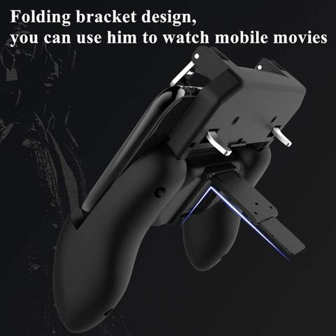 New Gamepads PUBG Mobile Game Controller Trigger Aim Button L1 R1 Shooter Joystick for Iphone X Samsung Phone Game Accesorios Islamabad
