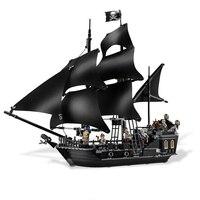 KAZI Black Pearl Caribbean Pirates Ship Building Blocks Sets Bricks Christmas Birthday Gifts DIY Toys For