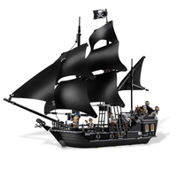 KAZI Black Pearl Caribbean Pirates Ship Building Blocks Sets Bricks Christmas Birthday Gifts DIY Toys For