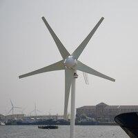 Großhandel 400 Watt wind turbine generator, 5 klingen windmühle für land und marine + wind/solar hybrid controller (led-anzeige)