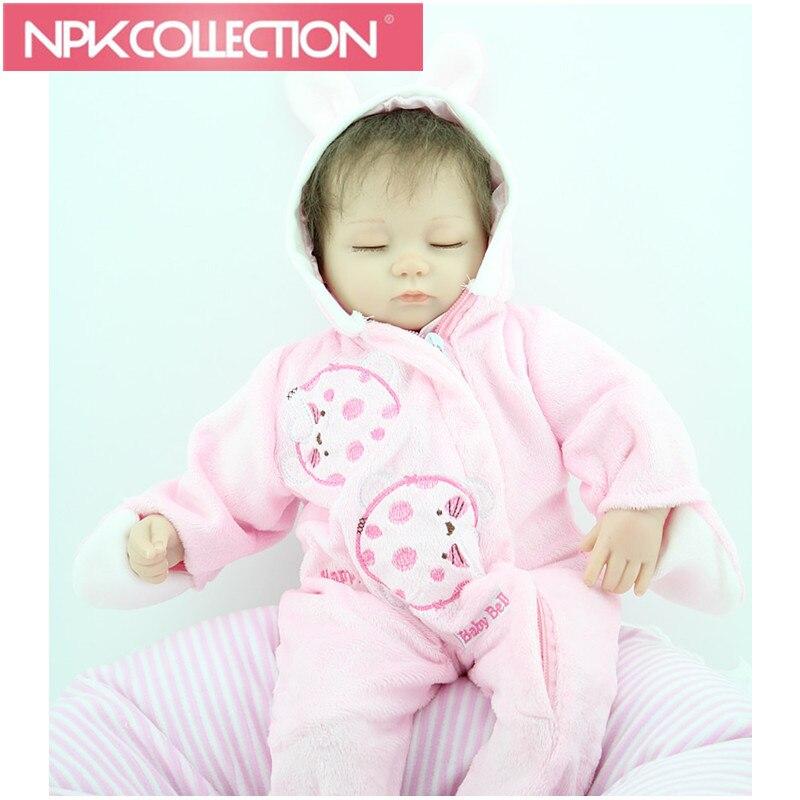 New Style 18 inches Reborn babies dolls Lifelike Newborn Baby realistic handmade beautiful sleeping princess girl D71 N266-7 new 23 inches lm230wf5 tld1 1920 x1080 lm230wf5 tld1 lm230wf5tld1 tld2