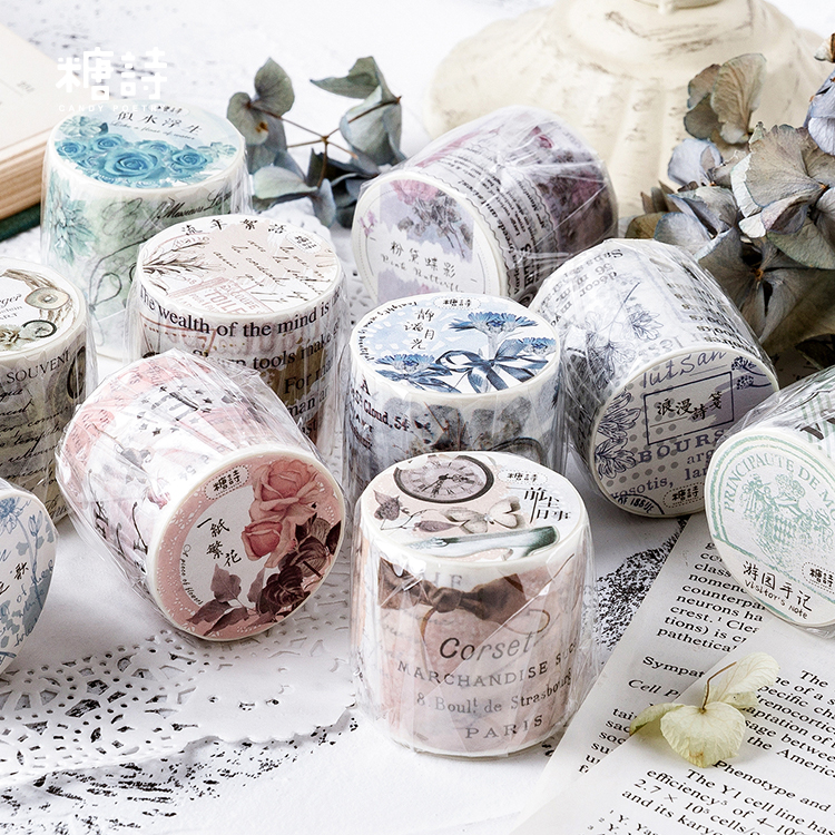 NEW 15mm*10m washi tape Mask paper Vintage Stamp Butterfly Decorative Stationery
