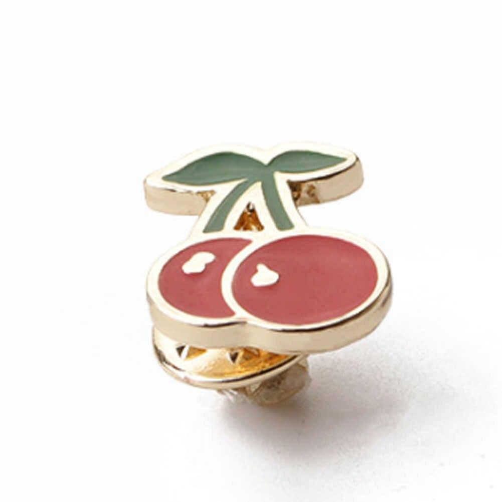 Mode Red Cherry Topi Scarf Klip Ornamen Perhiasan Aksesoris Bros Korsase Pin Untuk Wanita Gadis Dan Anak-anak Grosir