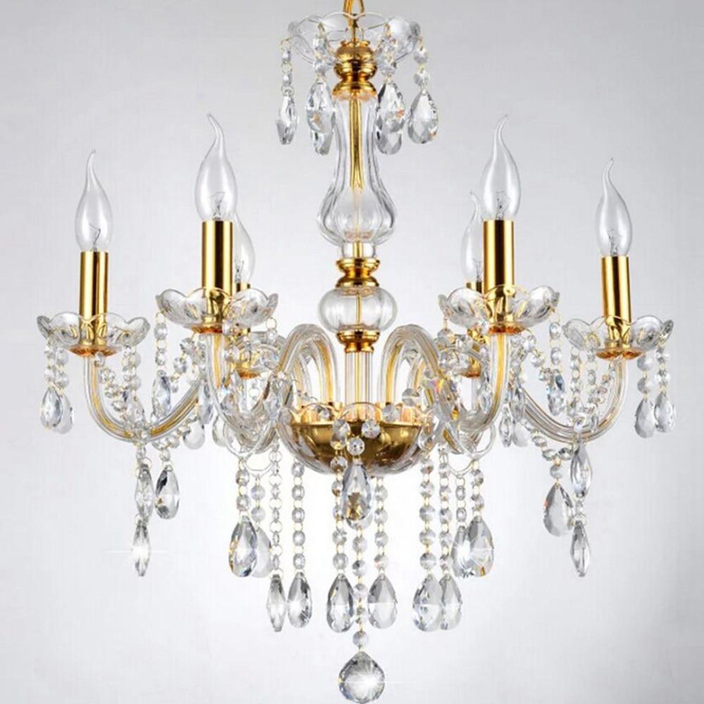 √Luxury Crystal K9 Pendant Light Home Decor Art Pendant Lamp 6 ...
