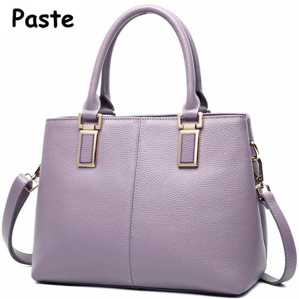 New Fashion Women's Messenger bag Classical Solid Color Cowhide Handbag Brand Genuine Leather Women bags Shoulder bag Casual Tot new arrival messenger bags fashion rabbit fair for women casual handbag bag solid crossbody woman bags free shipping m9070
