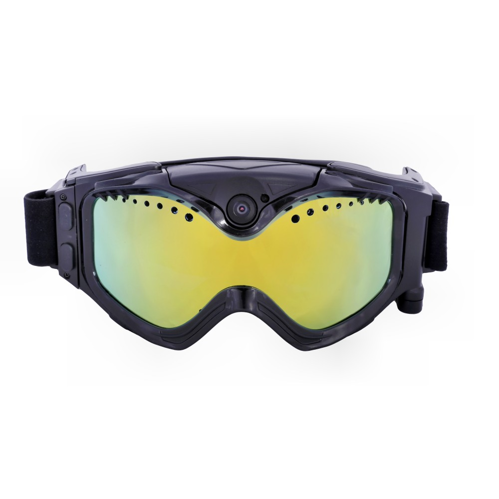 Lens Goggles Sports-Camera Ski-Sunglass Double-Anti-Fog Black 720P HD with Live-Image title=