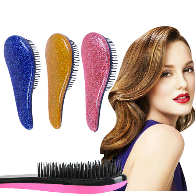 Profesional 6 colores bonito peine útil de salón de peluquería brocha para el cabello