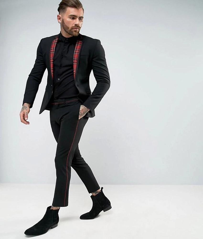 Skinny Black Suit Pants