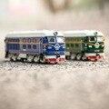1: 87 Classic Train Toys Модель Дети Сплава Металлический Звук и свет Эмуляции Электрический Тянуть Назад Автомобиль Рождественский Подарок Toys For дети