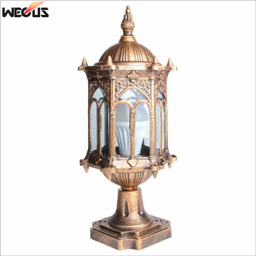 Europe Wall Column Light Outdoor Pillar Lamp Garden Step Corridor  Street Garden Fence Post Lights Retro Chapiter Lamps