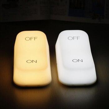 цена на LED Night Light Creative Gravity Sensor Switch Lamp USB Rechargeable Desk Table Lamp for Children Kids Baby Bedroom Bedside Gift